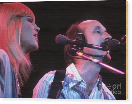 Mary Travers And Peter Yarrow Wood Print
