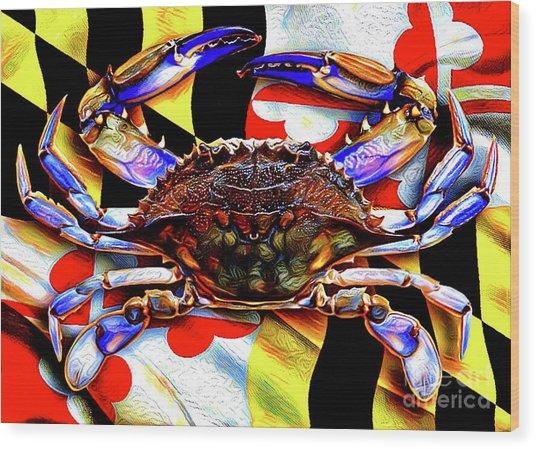 Maryland Blue Crab Wood Print