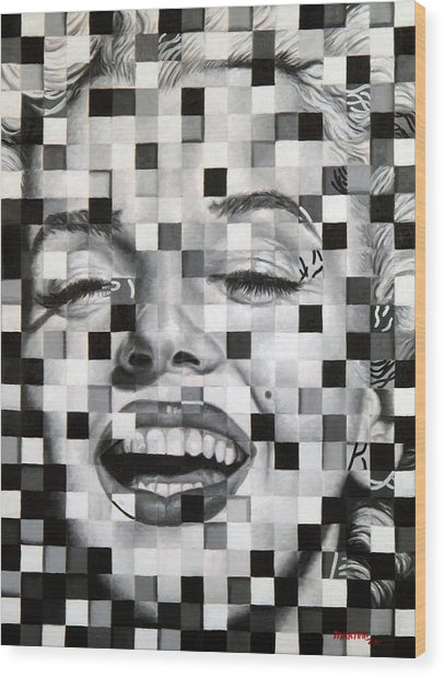 Marylin I Wood Print