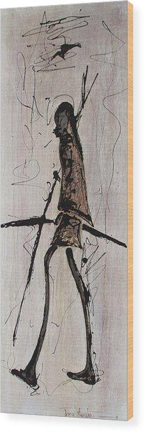 Masai Family - Part 2 Wood Print