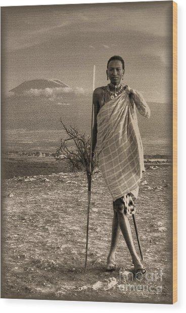 Masai Kilimanjaro Wood Print