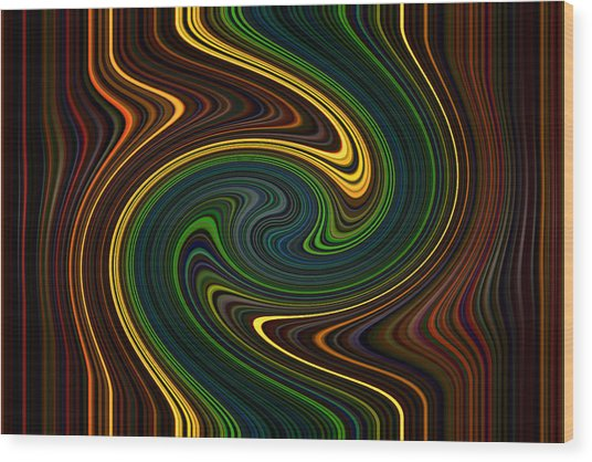 Masculine Waves Wood Print