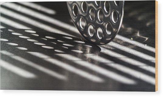Masher Shadows Wood Print