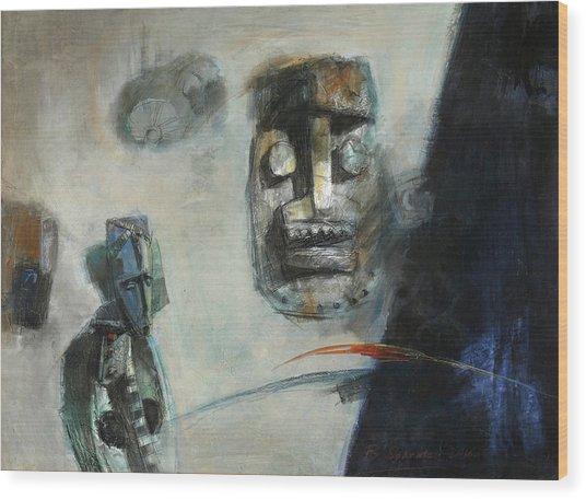 Symbol Mask Painting -02 Wood Print