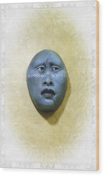 Mask 1 Wood Print