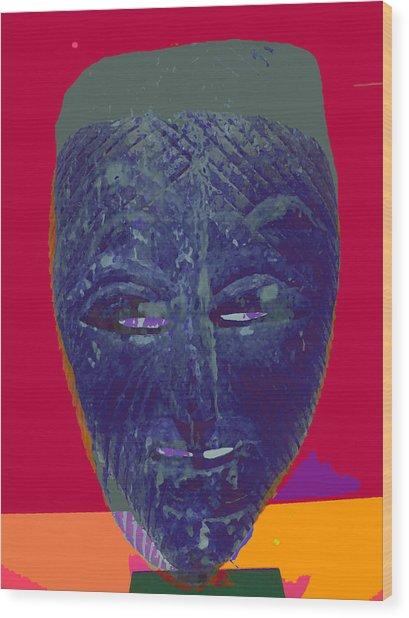 Mask 10 Wood Print by Noredin Morgan