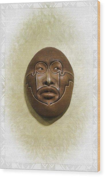 Mask 2 Wood Print
