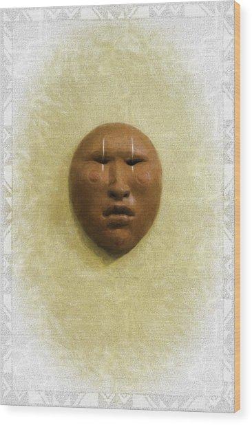Mask 4 Wood Print