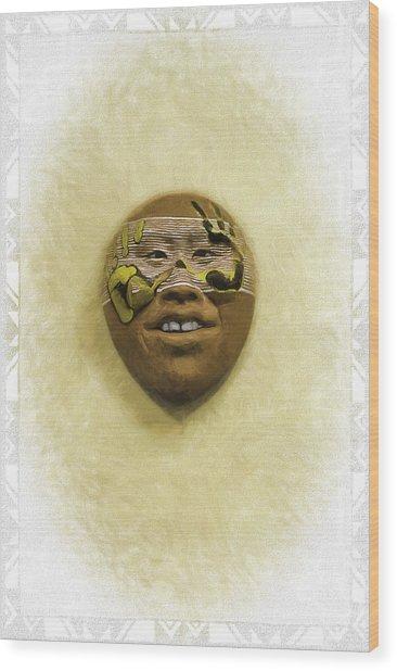 Mask 5 Wood Print