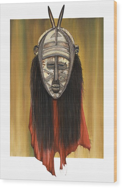 Mask I Untitled Wood Print