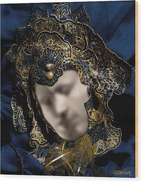 Mask Of Love Wood Print