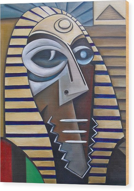 Mask Of The Enigmatic Wood Print by Martel Chapman
