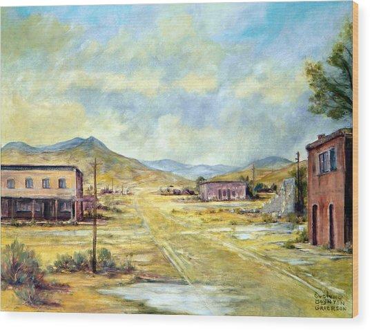 Mason Nevada Wood Print by Evelyne Boynton Grierson