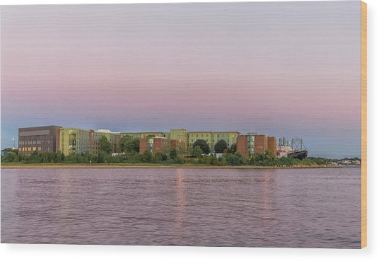 Massachusetts Maritime Academy At Sunset Wood Print