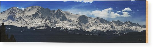 Massive View Wood Print by Darryl Gallegos