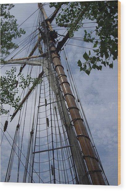 Mast Wood Print