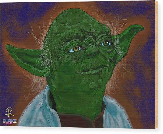 Master Yoda Wood Print by Joseph Burke