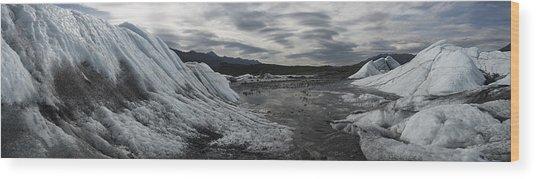 Matanuska Glacier Panorama Wood Print