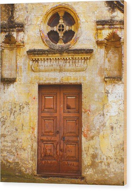 Matera Church Door Wood Print