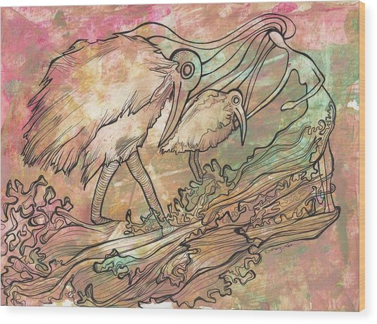 Matrem Terram Wood Print