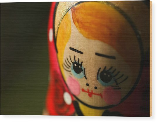 Matryoshka Doll Wood Print by Edward Myers