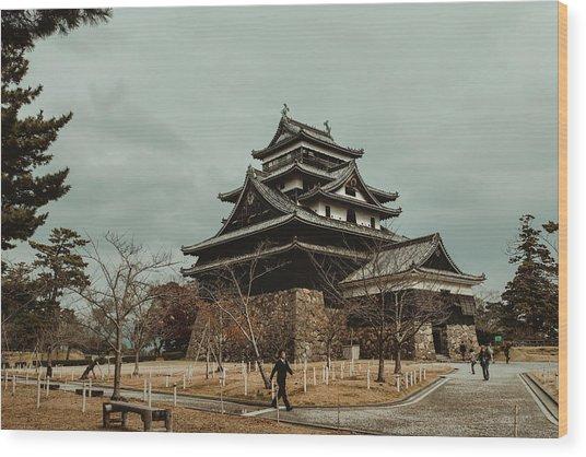 Matsue Castle Wood Print