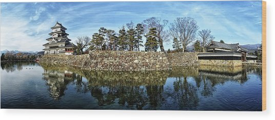 Matsumoto Castle Panorama Wood Print