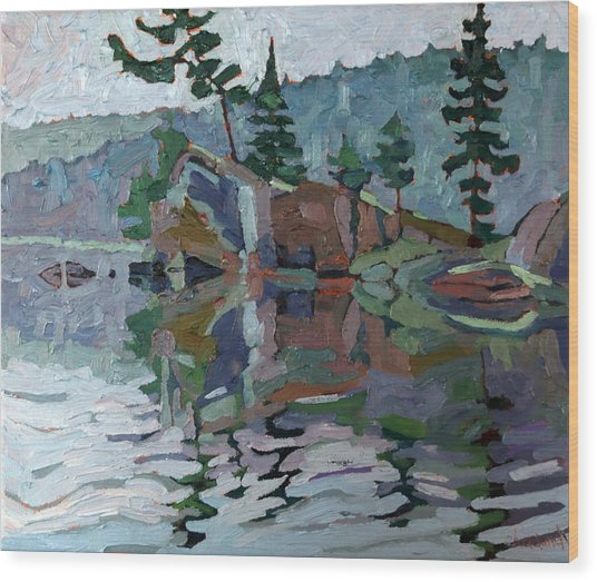 Mattawa Pines Wood Print
