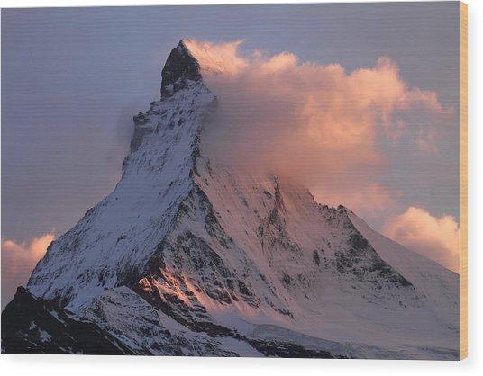 Matterhorn At Dusk Wood Print
