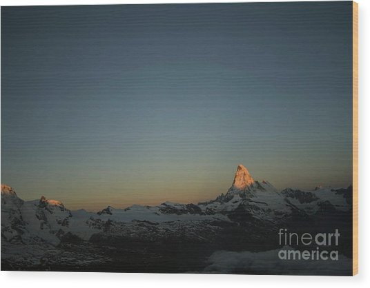 Matterhorn At Sunrise Wood Print