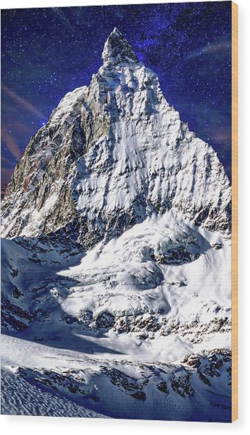 Matterhorn At Twilight Wood Print