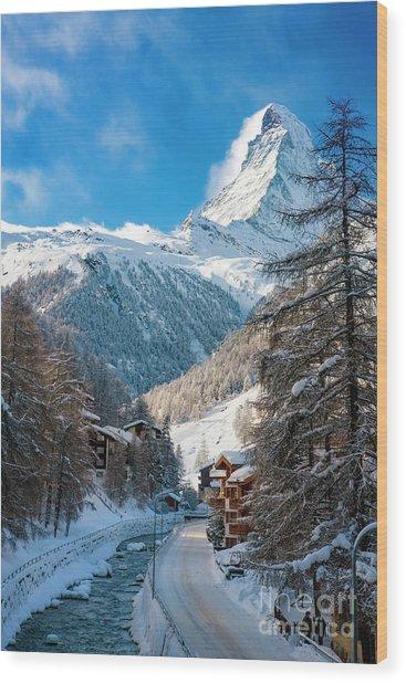 Wood Print featuring the photograph Matterhorn  by Brian Jannsen