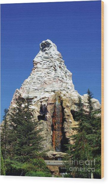 Matterhorn Disneyland Wood Print