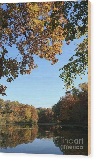 Matthiessen Lake In Autumn Wood Print
