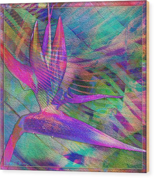 Maui Bird Of Paradise Wood Print
