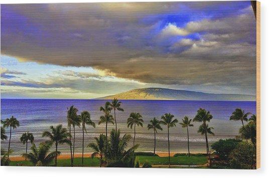 Maui Sunset At Hyatt Residence Club Wood Print