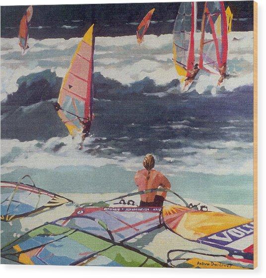Maui Surf Wood Print