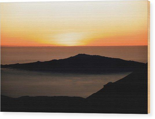 Mauna Kea Sunset Wood Print