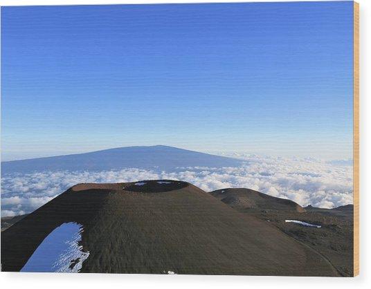 Mauna Loa In The Distance Wood Print