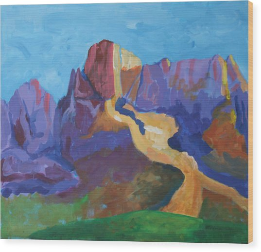 Mauve Catalina Wood Print