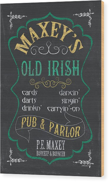 Maxey's Old Irish Pub Wood Print