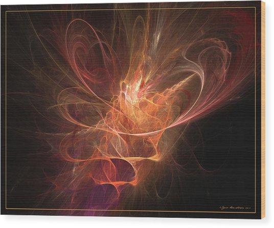 Maximum Power Of Love Wood Print