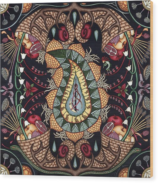 May Mandala Or Fertility Wood Print by Jess-o