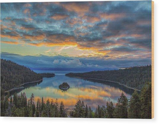 May Sunrise At Emerald Bay Wood Print