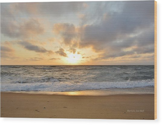 May Sunrise In Obx Wood Print