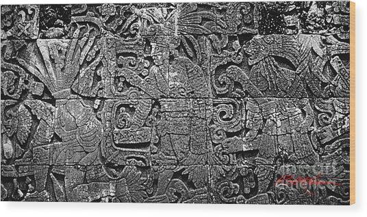 Maya Lingua Franca Wood Print by Roy Anthony Kaelin