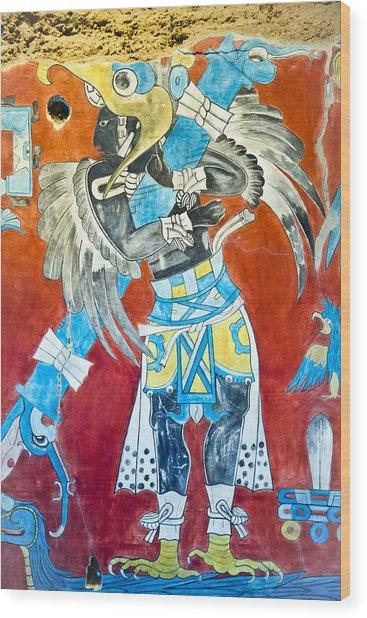 Mayan Fresco II Wood Print