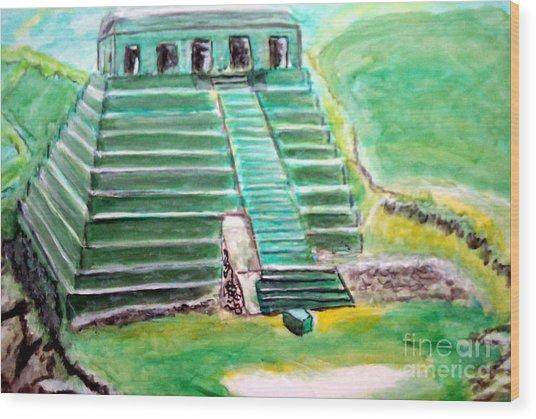 Mayan Temple Wood Print