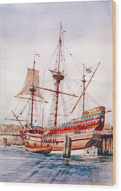 Mayflower II  Wood Print
