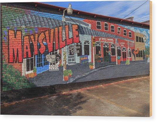 Wood Print featuring the photograph Maysville Mural by Doug Camara
